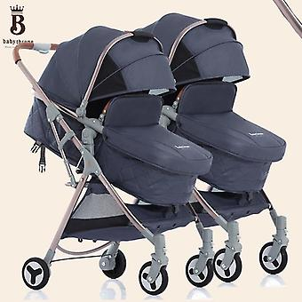 Landscape Twin Stroller Can Split The Wheel Shock Absorber To Sit And Lie
