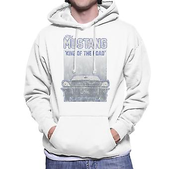 Ford Mustang King Of The Road Front View Men's Hooded Sweatshirt