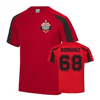 Ricardo Rodriguez AC Milan Sports Training Jersey (Red)