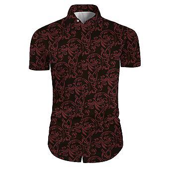 Allthemen Mænd 's Floral Casual Business kortærmede skjorter