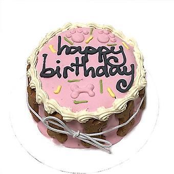 Vaaleanpunainen syntymäpäiväkakku (hylly vakaa)