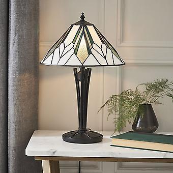 Interiör 1900 Astoria Tiffany glas liten bordslampa