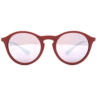 Ray-Ban Bordeaux Gunmetal rosa/Silver linser solglasögon RB4243-6264B5-49