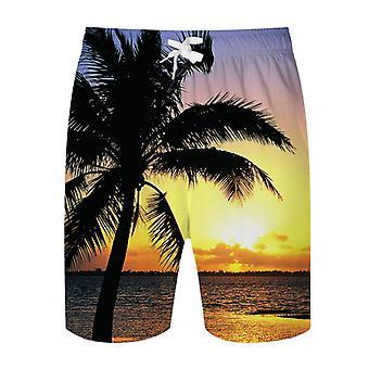 Allthemen Men's Beach Holiday 3D Coconut Printed Suit (Short Sleeve Shirt & Shorts)