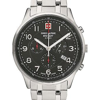 Mens Watch Sveitsisk Militær 7084.9137, Kvarts, 43mm, 10ATM