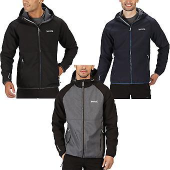 Regatta Mens Arec II Water Repellent Hooded Outdoor Softshell Jacket