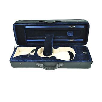 Vioolkoffer rechthoekig maat 3/4 – Blauw fluweel – Viool accessoires