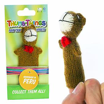 Teddybeer vingerpop (rode boog)