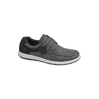 Scimitar Roddy Mens Casual Touch Fasten Shoes Black