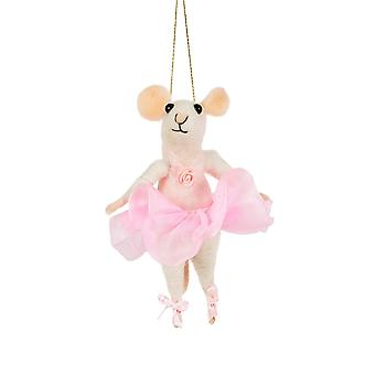 Mouse Ballerina Christmas Tree Decoration
