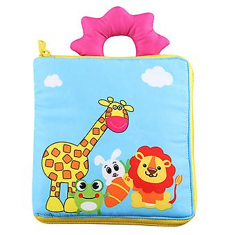 Colorful Durable Cloth Book With Sound Paper 3d Infant Fabric Book
