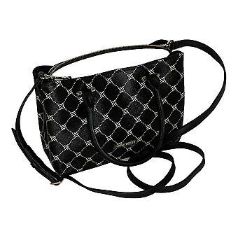 Nine West Curved Small Satchel Handbag Black A442945