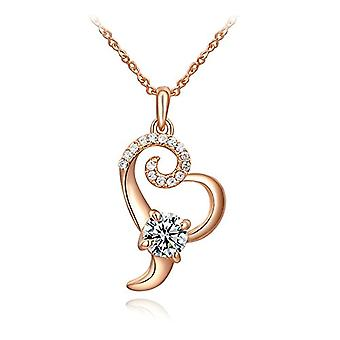Nobile Donna Heart-shaped necklace heart pendant gold-plated heart with Autiga crystals, metal base, Ref. 4058433092877