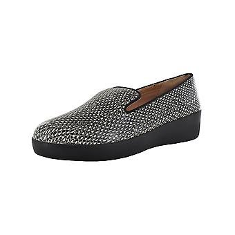 Fitflop Femmes Audrey Dotted Snake Cuir Mocassin Chaussures