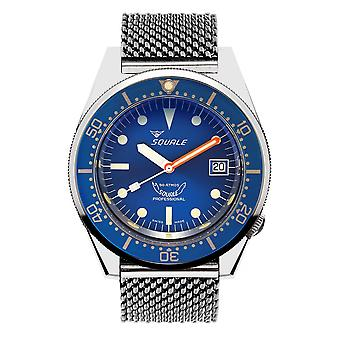 Squale 1521OCN.ME20 500 Meter Swiss Automatic Dive Wristwatch Mesh