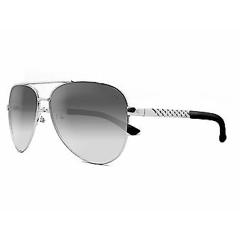Ruby rocks metal dominica aviator sunglasses with embossed temple in silver