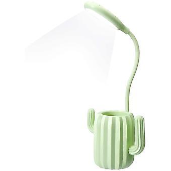 Vihreä työpöytä lamppu kevyt usb kosketusherkällä kytkimellä lukuvalot dt7023