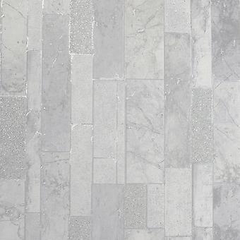 Kintsugi Slate Argento Wallpaper