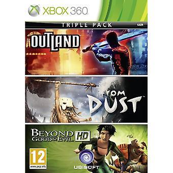 Xbox Live Hits-kollektion från Dust, Beyond Good and Evil och Outland Game XBOX 360