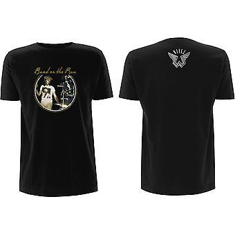 Paul McCartney - Wings Band on the Run Men's Large T-Shirt - Black