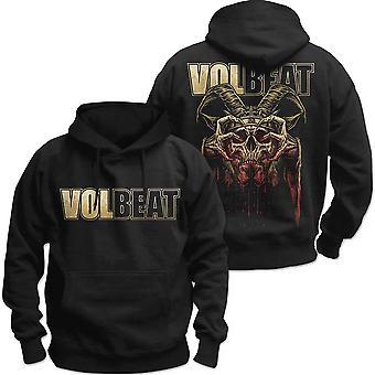 Volbeat - Bleeding Crown Skull Unisex Keskikokoinen Pullover Huppari - Musta