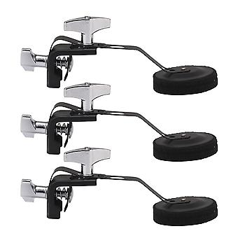 4x Tone Control Accessories Silencer with Felt Pad for 14Inch Snare Drum