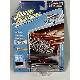1973 Cadillac Eldorado Convertible Sable Black 1:64 Johnny Lightning JLCG021B