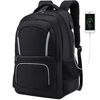Classical School Backpack With Usb Port