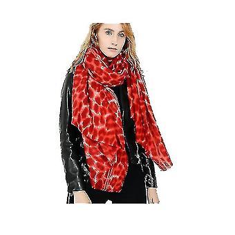Print Scarf Cashmere Feel Warm Winter Neck Wraps Pashmina Shawls(YELLOW)