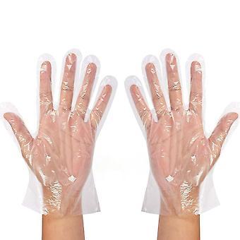 Klare Einweghandschuhe Transparente Kunststoffhandschuhe Latex Prep Sichere Handschuhe