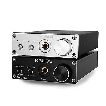 KGUSS DAC-K3 TPA6120 CS4398 2.0 MINI HIFI USB DAC Decodificado Amplificador de auriculares de audio 24BIT 192KHz OPA
