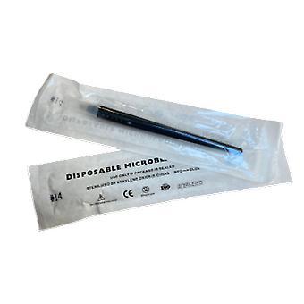 Engangs microblading håndverktøy | | #14 kurvefigur | med harde pinner Bulk Kjøp[10]