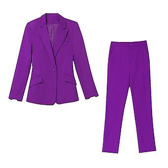 Ladies Business Slim Office Naisten Kaksiosainen Puku(3XL)