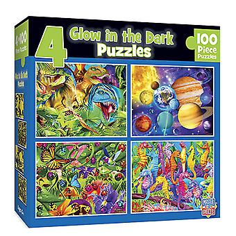 MP Glow in the Dark Puzzle 4 pack (100 pcs)