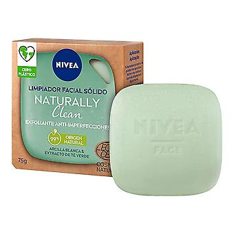 Detergente viso Naturalmente pulito Nivea Solido Esfoliante Anti-imperfezioni (75 g)