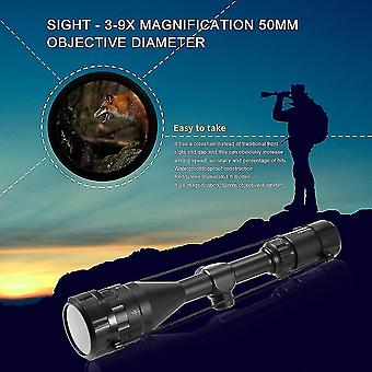 3-9x 50mm Aoeg Hunting Scope Red Green Dot Reticle Sight Scope Optics Tactical