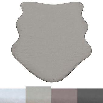 Fencing Sheepskin Imitation Lambskin Animal Fur Look Soft White Taupe Grey