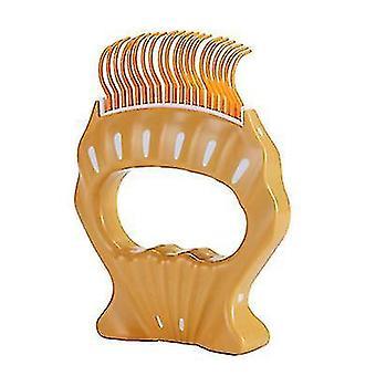 Pet Comb To Remove Floating Hair,Pet fair Elastic nylon brush(Orange)