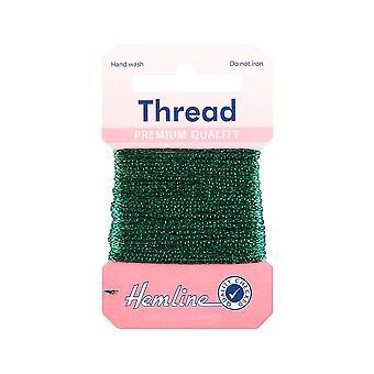 SISTE - 10m flaske grønn glittertråd for håndverk | Garnledning og elastisk for håndverk