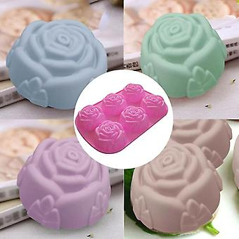 3D Rose Silicone Mould Baking for Make Cake Soap Jelly Pudding Chocolate Baking