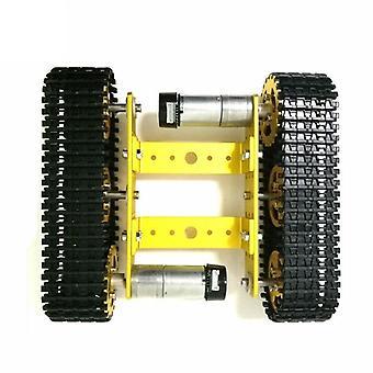 Metallisäiliö malli robotti jäljitetty, auton runko diy track opetus crawler