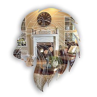 Лев голова боковой профиль акриловые зеркало