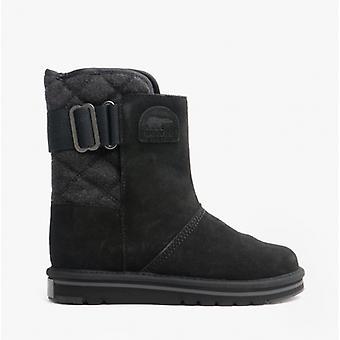 Sorel Newbie Ladies Suede Water Resistant Boots Black/grill