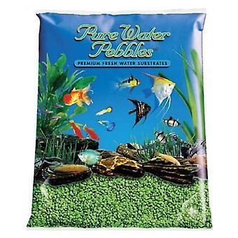 Pure Water Pebbles Aquarium Gravel - Neon Green - 5 lbs (3.1-6.3 mm Grain)