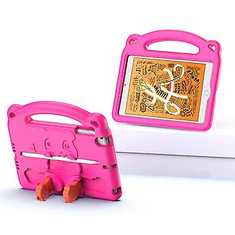 Case For Ipad Mini 5/4/3/2/1,shockproof Lightweight Convertible Handle Stand Protective Kids Child Cover - Pink Panda