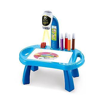 Kinder lernen Schreibtisch Zeichnen und Zeichnen Projektor Kunst Zeichenbrett Projektion
