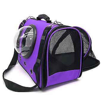 Saco de cápsula espacial de animais de estimação Cão espesso portátil /sacos de gato portador de animais dobrando bolsa de ombro de ventilação para pequenos gatos gaiola filhote