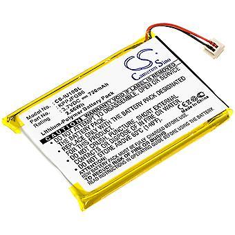 Battery for iRiver Clix 2GB 4GB U10 U10CT KPPJFGB6 MP3 Player CS-IU10SL 720mAh