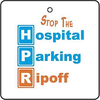 Hospital estacionamento refrogerador de ar do carro Ripoff