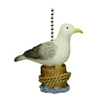 Coastal Beach Decor Sea Gull Seagull Perched On Piling Fan Light Pull